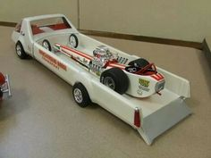 MPC Hauler and Dragster Scale Model Cars