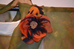 Painted silk poppy flower by Ann Taecker. Photo by Tabatha Nentl