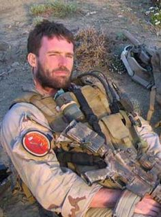 Navy Seal Michael P Murphy -- Such an amazing man. There is a book about him, called SEAL of Honor that is SOOOOO worth the money and the time to read it. Special Ops, Special Forces, Michael P Murphy, Lone Survivor, Us Navy Seals, Military Men, Military Families, Men In Uniform, Usmc