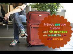 Cómo preparar la maleta. Método para que quepan casi 40 prendas y ni una arruga.Packing suitcase - YouTube