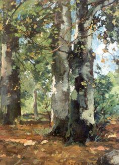 Watercolor Pictures, Watercolor Trees, Watercolor Landscape, Landscape Art, Landscape Paintings, Watercolor Paintings, Landscapes, Country Paintings, Nature Paintings