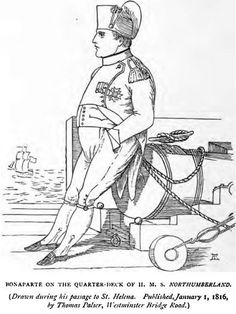 Napoleon Bonaparte as a prisoner on the quarter-deck of HMS Northumberland, 1815