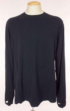 LULULEMON Mens Long Sleeve Run Shirt Size XL Extra Large Black Soft Thumb Holes #Lululemon #ShirtsTops