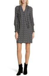 Rebecca Taylor Rue Floral Silk Tie Neck Dress available at #Nordstrom