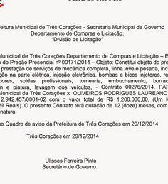 Folha do Sul - Blog do Paulão no ar desde 15/4/2012: TRÊS CORAÇÕES: LICITAÇÃO INTERESSANTE COM A TRECTU...