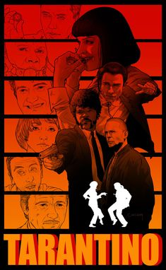 An acclaimed work by the illustrious Quentin Tarantino, Pulp Fiction undoubtedly has its value within the cinema and the director's career. Iconic Movie Posters, Cinema Posters, Movie Poster Art, Iconic Movies, Arte Do Pulp Fiction, Quentin Tarantino Films, Film Poster Design, Image Film, Fiction Movies