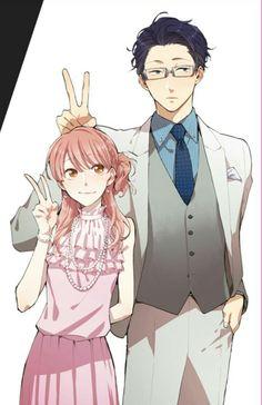 Manga Couple Hirotaka Nifuji x Narumi Momose / Wotaku ni Koi wa Muzukashii Otaku Anime, M Anime, Fanarts Anime, Anime Kawaii, Anime Characters, Anime Art, Manga Couple, Anime Love Couple, Cute Anime Couples
