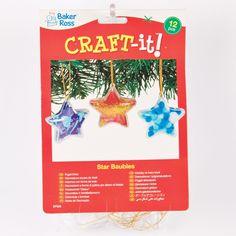 Étoiles transparentes à suspendre que les enfants pourront décorer et suspendre sur le sapin de Noël (Lot de 12): Amazon.fr: Jeux et Jouets