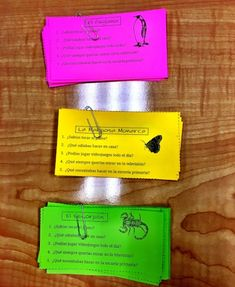 I love using these Animal Themed Task Cards in Spanish class. Group your sets of cards by color to keep easily tell them apart.