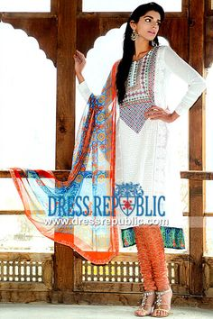Shariq Textiles Lawn Suits in USA for Eid 2014  Wardha Saleem Embroidered Lawn Prints in USA for Eid al Adha 2014. Dressrepublic is a Leader in Lawn Distribution to Stores and Fabric Shops in USA Since 2008. by www.dressrepublic.com