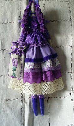 Тильда Лавандовый ангел. Сделана в подарок доченьке на её замечательную кухню в стиле Прованс !
