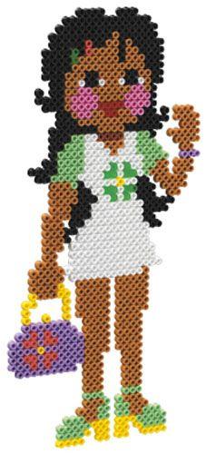 Girl - Mädchen /  hama bead perler pattern - Bügelperlen
