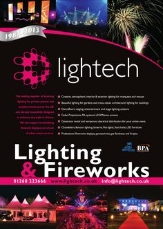 Lightech Lighting and Fireworks. Leading suppliers of amazing event lighting and stunning firework displays.