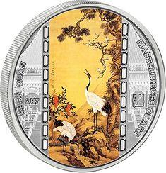 Lion-head  3 Silver Ounce Ghana 20 Cedis Antique Finish Coin 2013