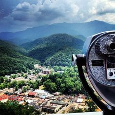 Amazing view of the Smoky Mtns. & downtown Gatlinburg