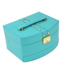 Look at this #zulilyfind! Turquoise Three-Tier Leather Jewelry Box by Bey-Berk International #zulilyfinds