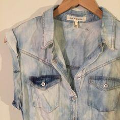 NWOT. denim tunic Short sleeve denim tunic. Never worn, new without tags. Life in progress Tops Tunics