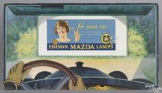 Edison Mazda Lamps cardboard advertising counter top stand-up sign