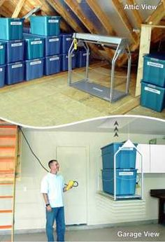 Ryobi nation pinterest attic tired and decoration attic storage made easy with versa liftis could be done really easy attic liftgarage atticgarage liftdiy solutioingenieria Image collections