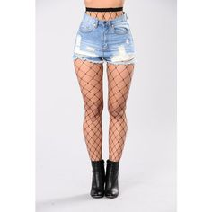 Hot Stuff Fishnets Black (345 RUB) ❤ liked on Polyvore featuring bottoms
