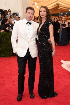 Met Gala 2014 | Edward Burns and Christy Turlington Burns | Both wearing Calvin Klein Collection