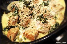 Snabb och god laxgryta med smak av spenat, citron och vitlök. Fisk är verkligen fast food!