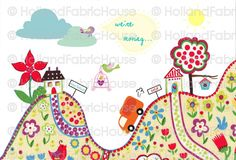 Moving House Card by Holland Fabric House, via Flickr
