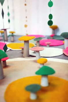 Decorative Felted Wool Home Decor (fun for kid's room!)