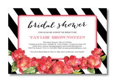 Printable Bridal Shower Invitation by PerfectlyPrintables on Etsy, $16.00