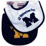 #Michigan #Wolverines #Team Logo #Baby #Bibs - 2 Pack