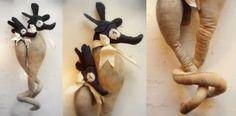 Mr Finch – Seahorses / textile Art