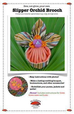 Slipper Orchid Brooch Pattern cover