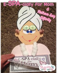 Fluttering Through First Grade: e-SPA-cially for Mom! Mother's Day Craft and Giftivity  OMG CUTENESS OVERLOAD!!!!