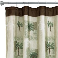 <p>Feel the warm tropical breezes blow through your bathroom when you add this taffeta shower curtain to your decor.