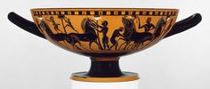 Warfare in Ancient Greece. Terracotta kylix (drinking cup)