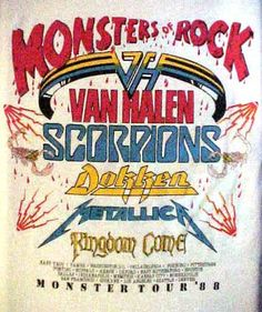 """In the summer of 1988, you could see 20,000 fans in Akron, Ohio withstanding the 100 degree plus heat just to see Van Halen headline the Monsters Tour at the """"Rubber Bowl"""". Description from denizandkennycollection.blogspot.com. I searched for this on bing.com/images"""
