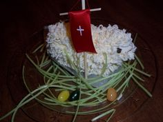 Polish Easter tradition. Homemade Butter lamb.