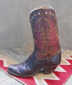 Brown and Red Hyer Boots Cowboy Western, Western Wear, Western Boots, Mens Riding Boots, Buckaroo Boots, Fashion Boots, Men's Fashion, Custom Cowboy Boots, Tall Boots