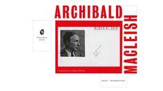 """– """"Nací el 7 de mayo de 1892 -dice MacLeish en unos lacónicosapuntes que escribiera en 1932 para un manual de informaciónsobre autores contemporáneos angloamericanos-, en un castillo …"""