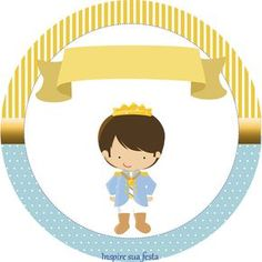 Príncipe Azul: Wrappers y Toppers para Cupcakes para Imprimir Gratis.