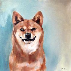 Diabolical Dog Oil on Canvas www.juliepfirsch.com School Portraits, Pet Portraits, Positive Images, Dog Art, Mammals, Oil On Canvas, Corgi, Puppies, Pets
