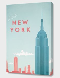 """New York"", Numbered Edition Canvas Print by Henry Rivers - From $69.00 - Curioos"