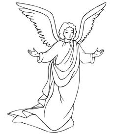 Angels Will Take Care Of Us Coloring Page