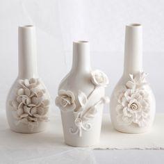 Capo-Di-Monte Rose Small Vase Set of 3 @Layla Grayce