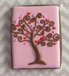Valentine tree cookie by Dulce