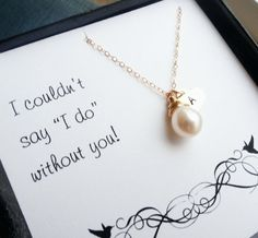 Love this idea for bridesmaids gifts, especially the initial on the front!