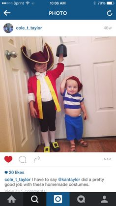 Captain Hook and mr. Smee
