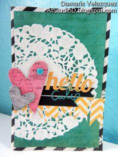 ... At Studio D: Hello Cutie! - heidi swapp card