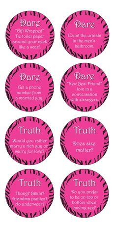 Bachelorette Coaster Party Game is great for bachelorette party ideas. Read them and do a dare.
