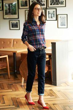 HIROMI YOSHIDA. コットンリネンのチェックシャツ|フェリシモ